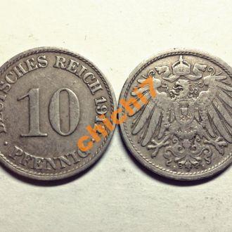 Германия. 10 пфеннигов 1912 г.