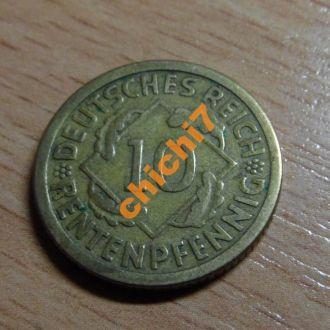 10 филингов Германия.1924 год