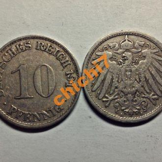 Германия. 10 пфеннигов 1911 г.