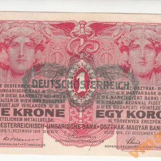 Австро-Венгрия 1 крона 1916 г НАДПЕЧАТКА UNC-aUNC