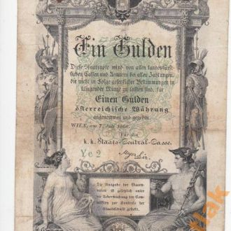 Австро-Венгрия 1 гульден 1866 год