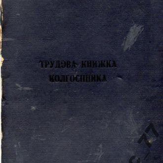 Украинская ССР 1954-87 трудовая книжка колхозника