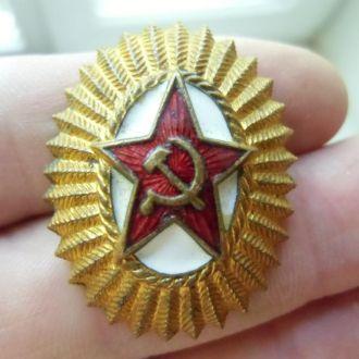 Кокарда офицерская бронза или латунь тяжелая СССР