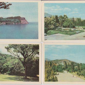КРЫМ  = набор открыток 1960-х гг.  = 7 шт.