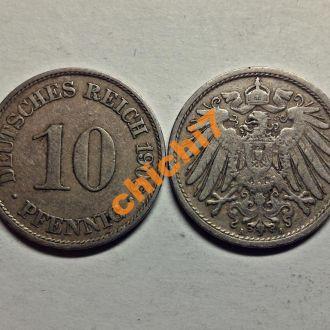 Германия. 10 пфеннигов 1908 г.