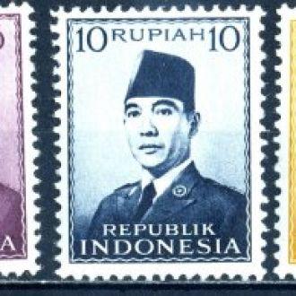 Индонезия. Президент** и * 1951-52 г.