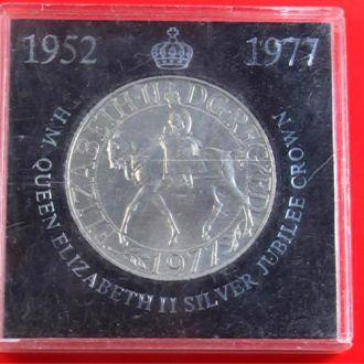 МОНЕТА ELIZABETH  II  SILVER JUBILEE CROWN 1952-77