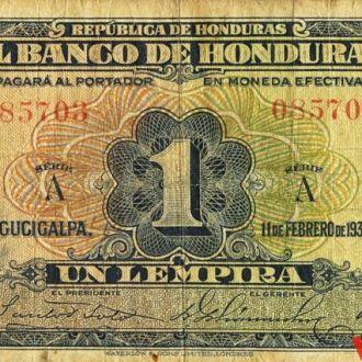 Гондурас 1 лемпира 1932 год. КОПИЯ