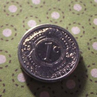 Антилы монета 1 цент 1996 год Антильские острова