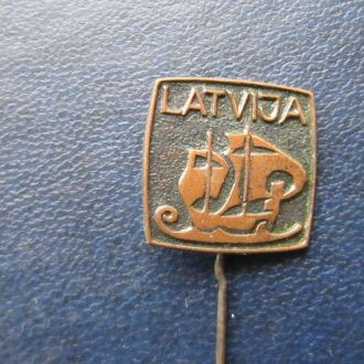 значок Латвия корабль тяжёлый