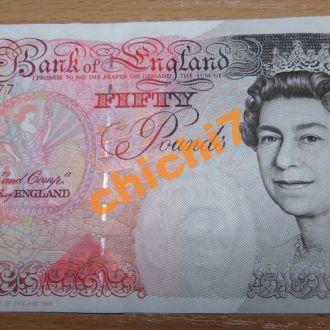 Англия 50 фунтов.UNC