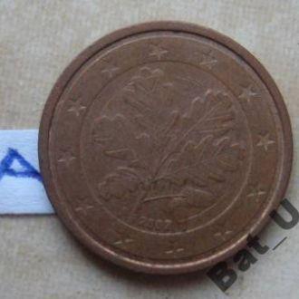 ГЕРМАНИЯ 2 евроцента 2002 года.