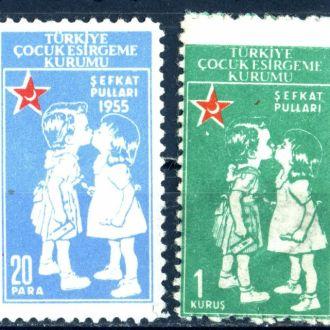 Турция. Красный полумесяц (служ. м.)* 1955 г.