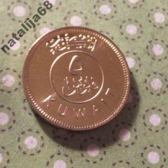 Кувейт монета 5 филсов парусник