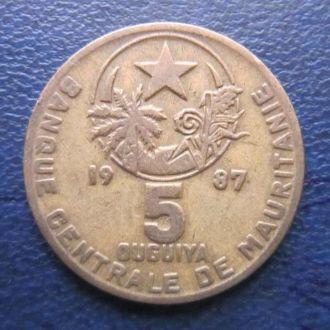 5 угий Мавритания 1987