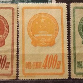 Китай 1951 Гербы