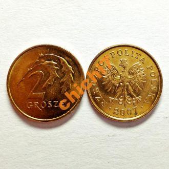 Польша. 2 гроша 2007 г.