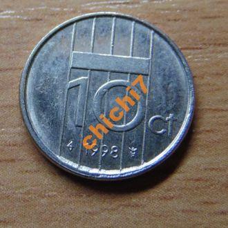 Нидерланды 1998 год,10 центов