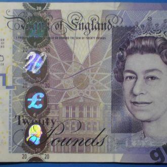 20 фунтов стерлингов!BANK OF ENGLAND! 2006г.UNC!