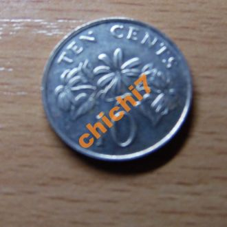 Сингапур 10 центов 1993 год.UNC