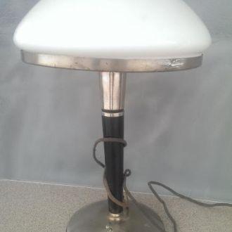 Лампа светильник карболит молочное стекло 1961