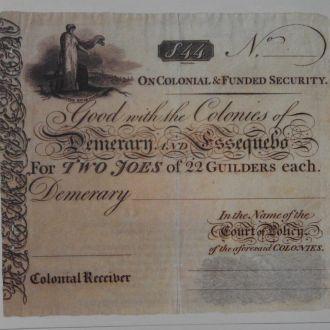 Guyana Гайана - 44 Gulden 1830 КОПИЯ JavirNV