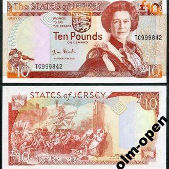 Jersey / Джерси - 10 Pounds 2000 - UNC - OLM-OPeN