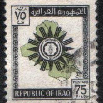 Ирак (1963) Карта и герб