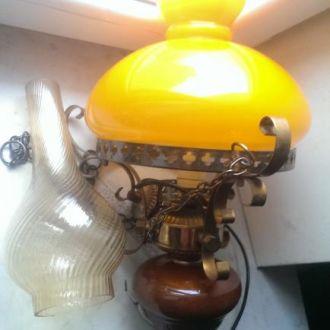 Лампа светильник цветное двухслойное стекло СССР