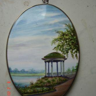 Настенное пано эмаль ручная роспись