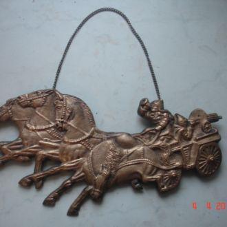Настенное панно бронза литье соцреализм СССР