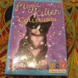 на английском языке книга набор 3шт кошки котята