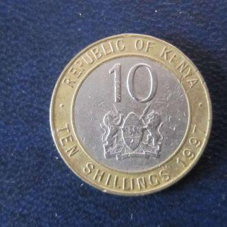 10 шиллингов Кения 1997