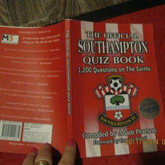 футбол английском языке книга SOUTHAMPTON QUIZbook