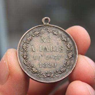 Памятная медаль NE A PARIS 1820