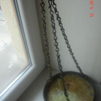 Чашка с цепью для весов бронза царизм