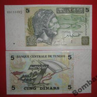 Тунис 5 динаров Unc
