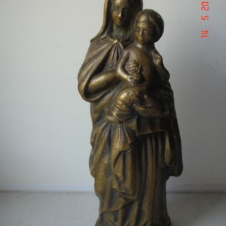 Фигура Матерь Божья с ребенком бронза царизм