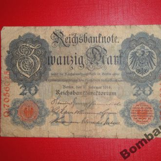 20 марок 1914г