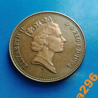 Великобритания 2 пенса 1994 год Елизавета II