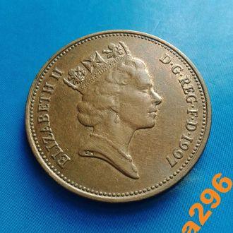 Великобритания 2 пенса 1997 год Елизавета II