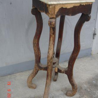 Подставка стол под большую фигуру дерево мрамор ца