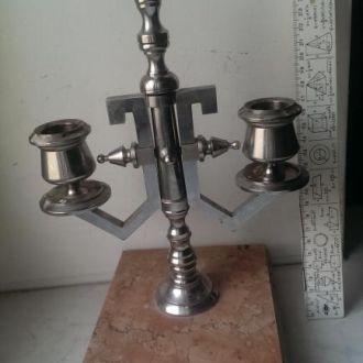Подсвечник канделябр мрамор металл бронза