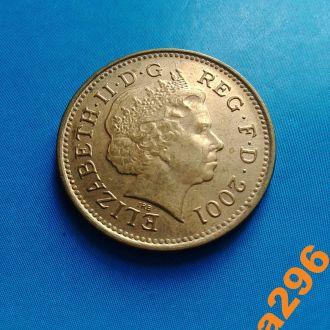 Великобритания 1 пенни 2001 год Елизавета II