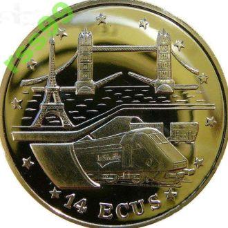 Гибралтар 14 экю 1994 серебро 0.925. Тираж 30.000