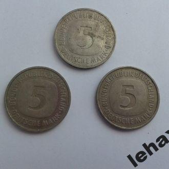 5 марок 1981, 1990 и 1991 годов 3 шт.