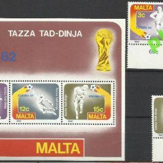 Мальта 1982 футбол чемпионат мира 3м.+бл.**