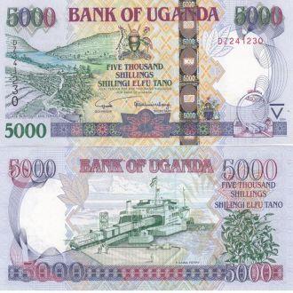 Uganda Уганда - 5000 Shillings 2004 UNC JavirNV