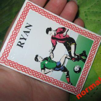 RYAN магнит чистый блокнот  Райан футбол сувенир