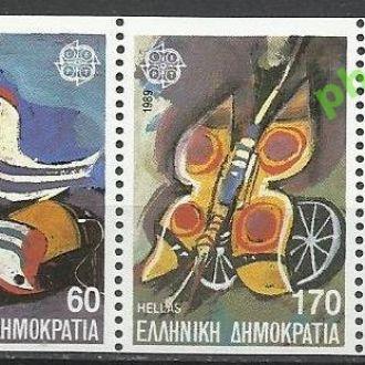 Греция 1989 Европа СЕПТ фауна бабочка птица детски